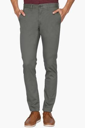 U.S. POLO ASSN. Mens Slim Fit Solid Chinos - 201922520