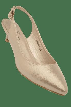 ELLIZA DONATEINWomens Ankle Buckle Closure Heel Sandal