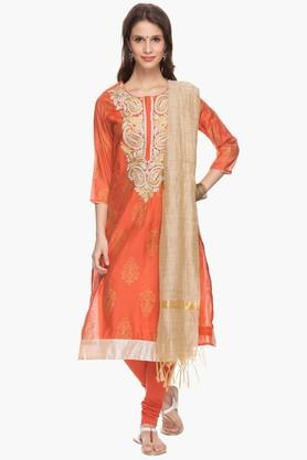 IMARA Womens Embroidered Churidar Suit - 201628235