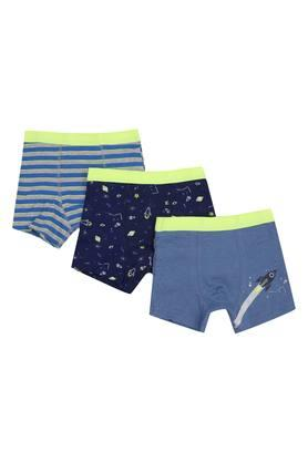Boys Printed and Stripe Trunks Pack of 3