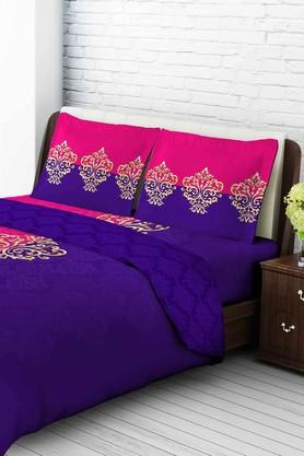 TANGERINE Cotton Printed Double Bedsheet And Pillow Set - 200456804