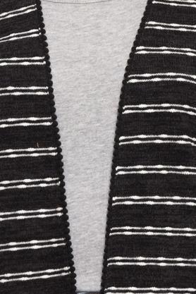Womens Striped Shrug