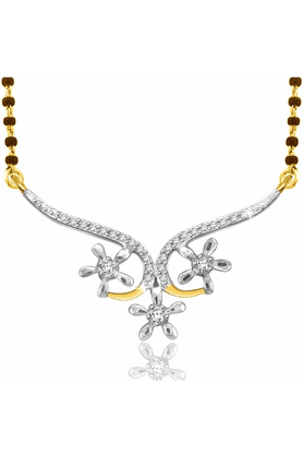 SPARKLES Gold Mangalsutra With Diamond Pendant Set N9260