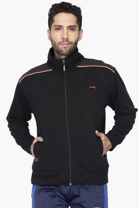 8b3d36773ae Buy BLACK PANTHER Mens Full Sleeves Zipper Closure Solid Sweat Shirt ...