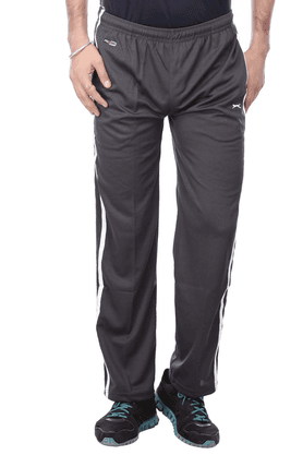 BLACK PANTHER Mens 2 Pocket Solid Track Pants