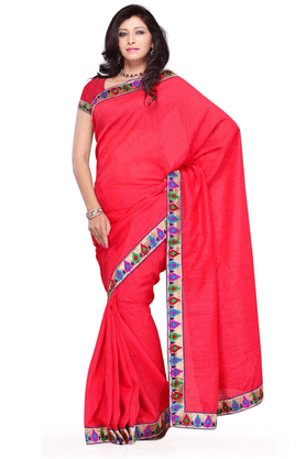 DEMARCA De Marca Red Art Silk Designer DF-199E Saree