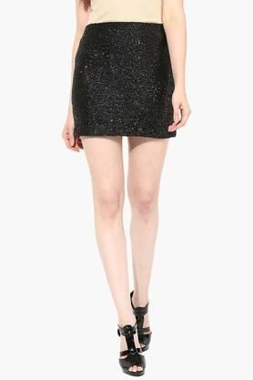 MISS CHASE Womens Sequin Short Skirt