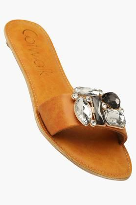 CATWALKWomens Casual Slipon Flat Sandals