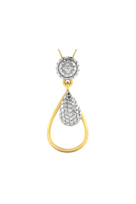 SPARKLESHis & Her Collection 18 Kt Pendant In Gold & Real Diamond HHP11342