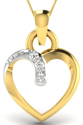 SPARKLESHis & Her Collection 92 Kt His & Her Diamond Pendants In 925 Sterling Silver And Real Diamond - 0.01 Cts HHP8588-92KT