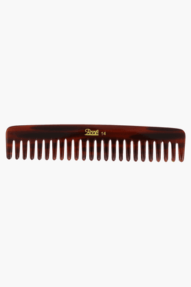 ROOTS Brown Wide Teeth Comb For Wavy/ Curly Medium Length Hair And Shampoo Use