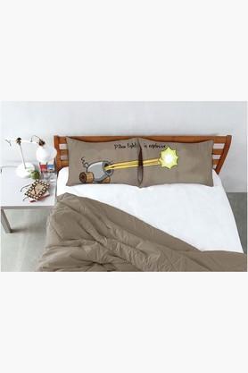 STOA PARISStone Brown Pillow Fight Canon Fire Bed Linen (Bedsheet Set (King)