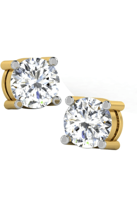 SPARKLES His & Her Collection 92 Kt Solitaires Earrings In 925 Sterling Silver And Real Diamond 0.25 Cts HHT6312-92KT