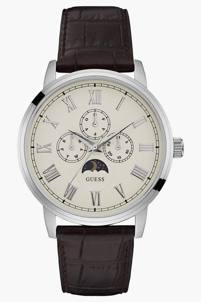 Mens Multi-Function Leather Watch - W0870G1