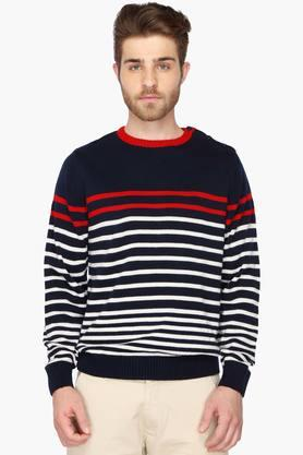 VETTORIO FRATINI Mens Striped Sweater