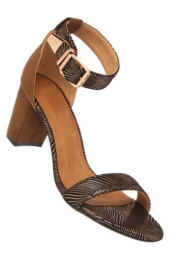 INC.5 -  Brown Mix Heels - Main