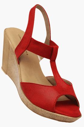 LEMON & PEPPERWomens Daily Wear Slipon Wedge Sandal