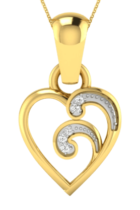 SPARKLESHis & Her Collection 18 Kt Pendant In Gold & Real Diamond HHP8545