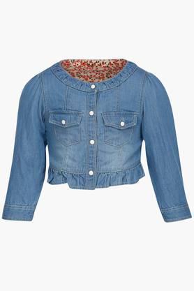 Girls Buttoned Jacket