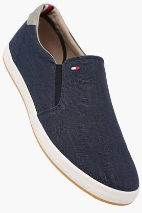 Mens Canvas Slip On Loafers - 202188398