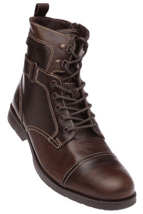 RED TAPE Mens Leather High Ankle Lace Up Boot