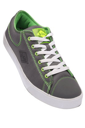 LEE COOPERMens Grey Casual Lace Up Shoes