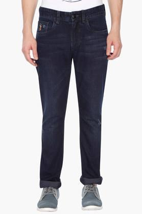 U.S. POLO ASSN. DENIM Mens 5 Pocket Stretch Jeans (Woody Fit)