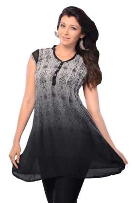 DEMARCA Womens Printed Kurta (Buy Any Demarca Product & Get A Pair Of Matching Earrings Free) - 200936852