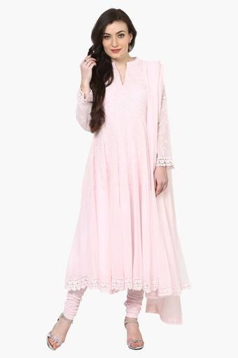 672c85e76 Buy BIBA Women Poly Cotton Anarkali Suit Set