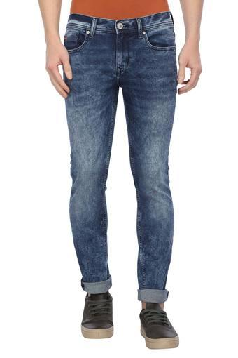 Mens Slim Fit Stone Wash Jeans (Norris Fit)