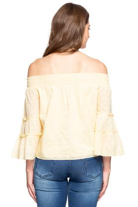 Womens Off Shoulder Embroidered Top