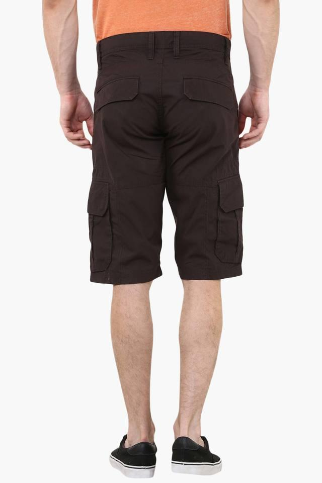 6a20811170 Buy CELIO Mens Regular Fit 6 Pocket Solid Cargo Shorts | Shoppers Stop