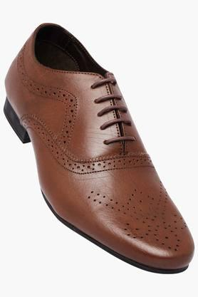 FRANCO LEONE Mens Leather Lace Up Oxford Shoes
