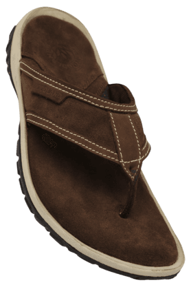 WOODLAND Mens Nubuk Leather Slipon Casual Slipper