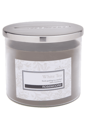 ROSEMOORE Glass Candle Medium White Tea