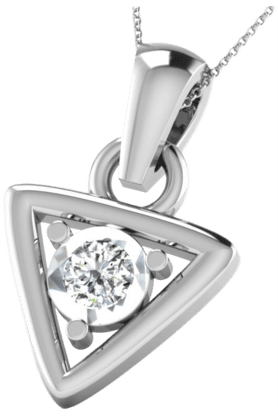 SPARKLES His & Her Collection 92 Kt His & Her Collection Women 925 Sterling Silver Solitaire Diamond Pendant HHDRP9651-92KT