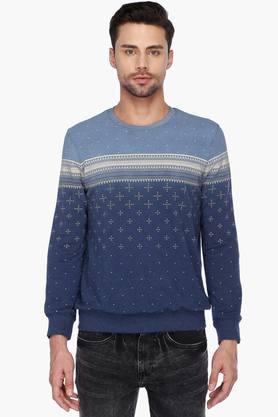 STOPMens Full Sleeves Round Neck Printed Sweatshirt
