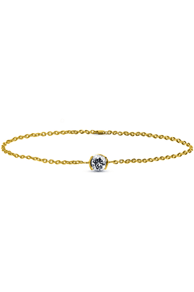 SPARKLES His & Her Diamond Bracelets In Gold And Real Diamond - 0.1 Cts