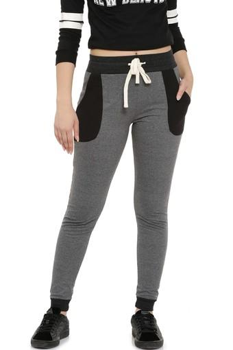 CAMPUS SUTRA -  Charcoal Bottomwear - Main