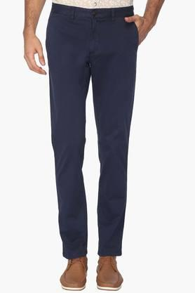LOUIS PHILIPPE SPORTS Mens 4 Pocket Solid Chinos - 202453440