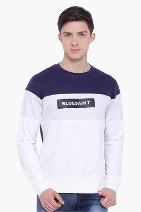 BLUE SAINT Mens Multicolour Printed Sweatshirt  ...