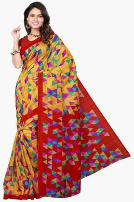 Women Bhagalpuri Art Silk Geometrical Printed Saree - 202447285