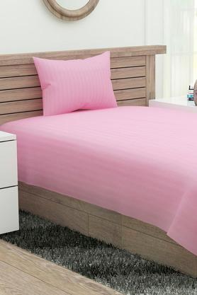 Stripe Single Bed Sheet with Pillow Cover