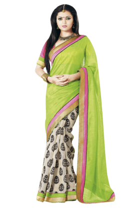 DEMARCA Womens Art Silk Printed Saree - 201021308