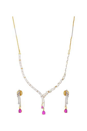 Lovely Diamond Necklace Set For Women -INK-785