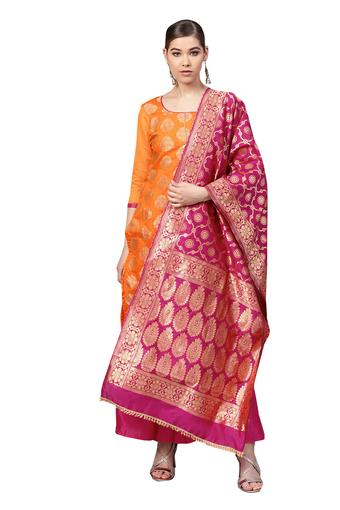 ISHIN -  OrangeSalwar & Churidar Suits - Main