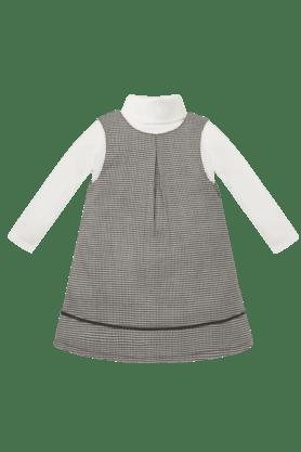 Girls Cotton Checkered Dress