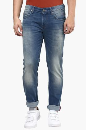 LOUIS PHILIPPE JEANS Mens Slim Fit Heavy Wash Jeans (Albert Fit)