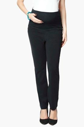 NINE MATERNITY Womens 4 Pocket Solid Trousers - 202345169