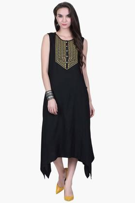 JUNIPER Womens Embroidered Asymmetrical Dress  ...